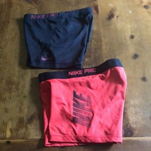 Nike pro 2 pair together.